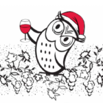 The Owl in a Christmas hat