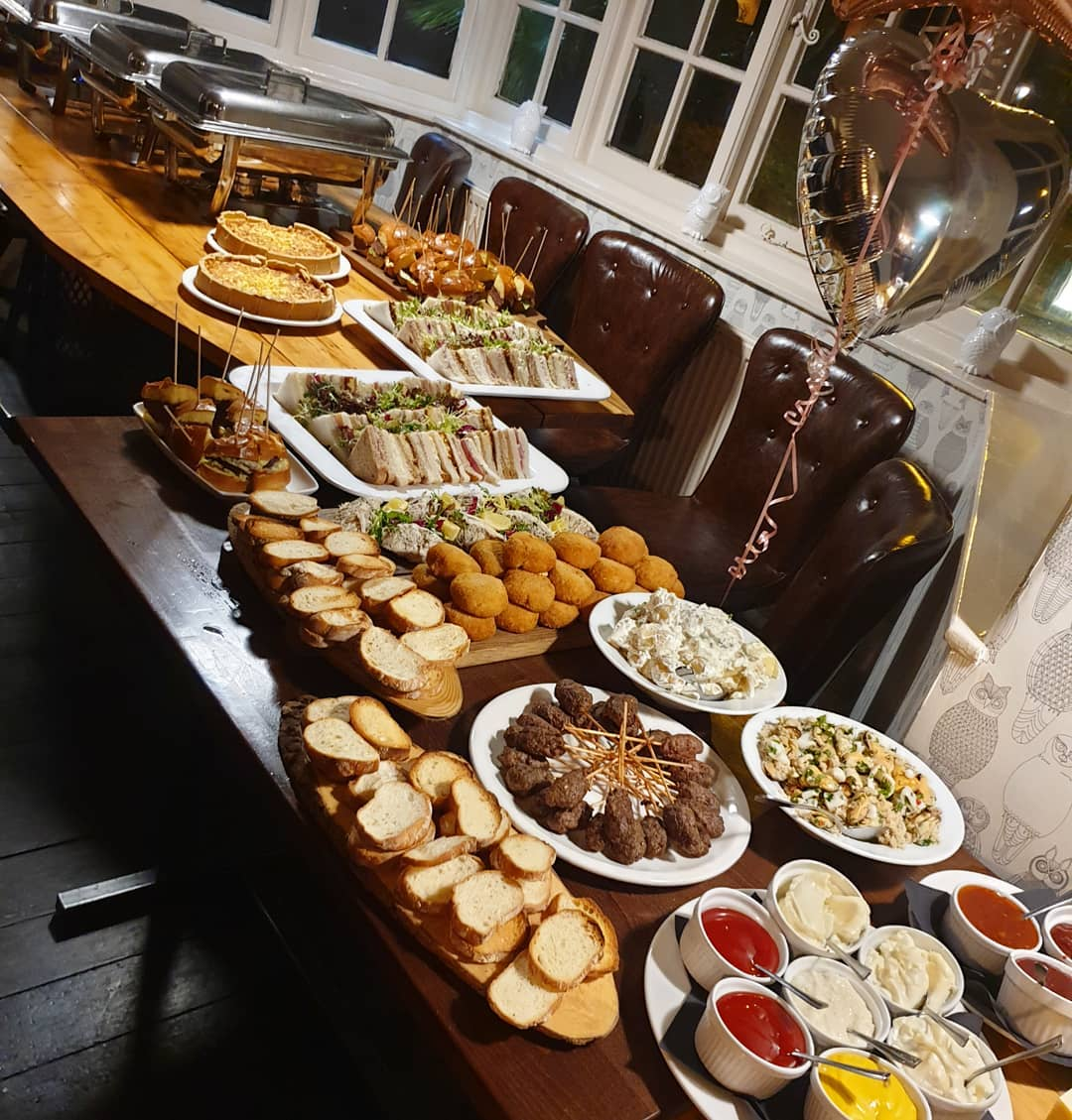 70-birthday-party buffet