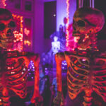 partying skeletons